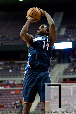 Oct 20, 2012; Auburn Hills, MI, USA; Charlotte Bobcats small forward Michael Kidd-Gilchrist (14) during the game against the Detroit Pistons at The Palace. Mandatory Credit: Tim Fuller-US PRESSWIRE