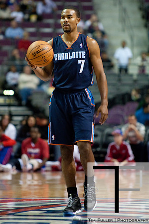 Oct 20, 2012; Auburn Hills, MI, USA; Charlotte Bobcats point guard Ramon Sessions (7) brings the ball up court against the Detroit Pistons during the game at The Palace. Mandatory Credit: Tim Fuller-US PRESSWIRE