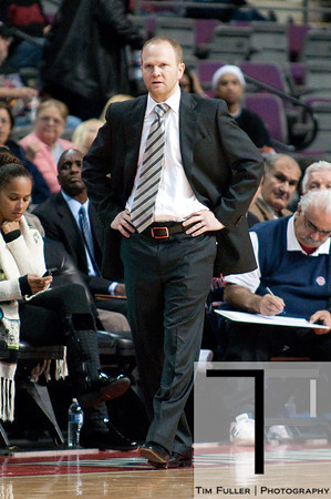 Oct 20, 2012; Auburn Hills, MI, USA; Detroit Pistons head coach Lawrence Frank during the game against the Charlotte Bobcats at The Palace. Detroit won 85-80.  Mandatory Credit: Tim Fuller-US PRESSWIRE