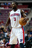 Oct 20, 2012; Auburn Hills, MI, USA; Detroit Pistons point guard Rodney Stuckey (3) during the third quarter against the Charlotte Bobcats at The Palace. Detroit won 85-80.  Mandatory Credit: Tim Fuller-US PRESSWIRE