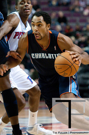 Oct 20, 2012; Auburn Hills, MI, USA; Charlotte Bobcats shooting guard Gerald Henderson (9) drives to the basket against the Detroit Pistons during the game at The Palace. Mandatory Credit: Tim Fuller-US PRESSWIRE