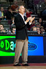 Oct 20, 2012; Auburn Hills, MI, USA; Charlotte Bobcats head coach Mike Dunlap during the game against the Detroit Pistons at The Palace. Mandatory Credit: Tim Fuller-US PRESSWIRE