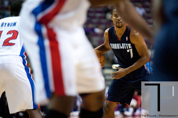 Oct 20, 2012; Auburn Hills, MI, USA; Charlotte Bobcats point guard Ramon Sessions (7) during the first quarter against the Detroit Pistons at The Palace. Mandatory Credit: Tim Fuller-US PRESSWIRE