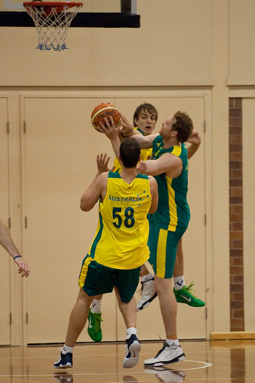 "Luke Schenscher - Boomers - Australian Men's Basketball Team Open Training Session, The Southport School, Queensland, Australia; 28 July 2011. Photos by Des Thureson:  <a href=""http://disci.smugmug.com"">http://disci.smugmug.com</a>."