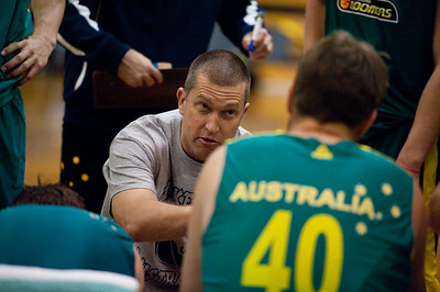 Boomers Assistant Coach Andrej Lemanis - Boomers - Australian Men's Basketball Team Open Training Session, The Southport School, Queensland, Australia; 28 July 2011. Photos by Des Thureson:  http://disci.smugmug.com.