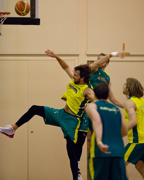 "Matt Nielsen - Boomers - Australian Men's Basketball Team Open Training Session, The Southport School, Queensland, Australia; 28 July 2011. Photos by Des Thureson:  <a href=""http://disci.smugmug.com"">http://disci.smugmug.com</a>."
