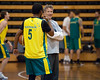 """Boomers basketball Head Coach Brett Brown chats with Patty Mills - Boomers - Australian Men's Basketball Team Open Training Session, The Southport School, Queensland, Australia; 28 July 2011. Photos by Des Thureson:  <a href=""""http://disci.smugmug.com"""">http://disci.smugmug.com</a>."""