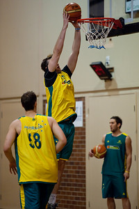 AJ Ogilvy - Boomers - Australian Men's Basketball Team Open Training Session, The Southport School, Queensland, Australia; 28 July 2011. Photos by Des Thureson:  http://disci.smugmug.com.