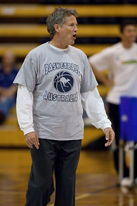 Boomers basketball Head Coach Brett Brown - Boomers - Australian Men's Basketball Team Open Training Session, The Southport School, Queensland, Australia; 28 July 2011. Photos by Des Thureson:  http://disci.smugmug.com.