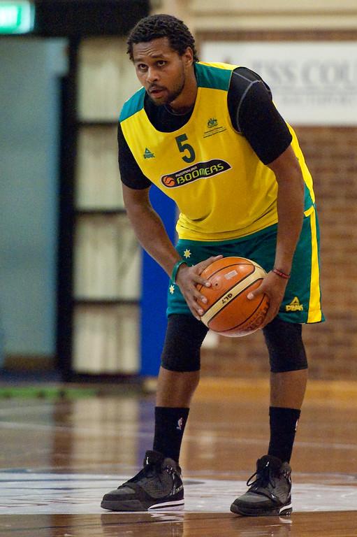 "Patty Mills - Boomers - Australian Men's Basketball Team Open Training Session, The Southport School, Queensland, Australia; 28 July 2011. Photos by Des Thureson:  <a href=""http://disci.smugmug.com"">http://disci.smugmug.com</a>."