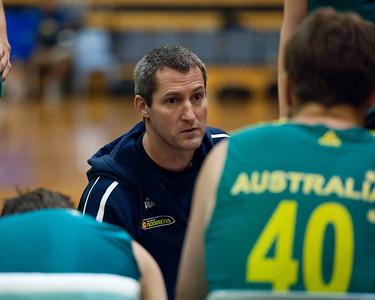 Boomers Assistant Coach Marty Clarke - Boomers - Australian Men's Basketball Team Open Training Session, The Southport School, Queensland, Australia; 28 July 2011. Photos by Des Thureson:  http://disci.smugmug.com.