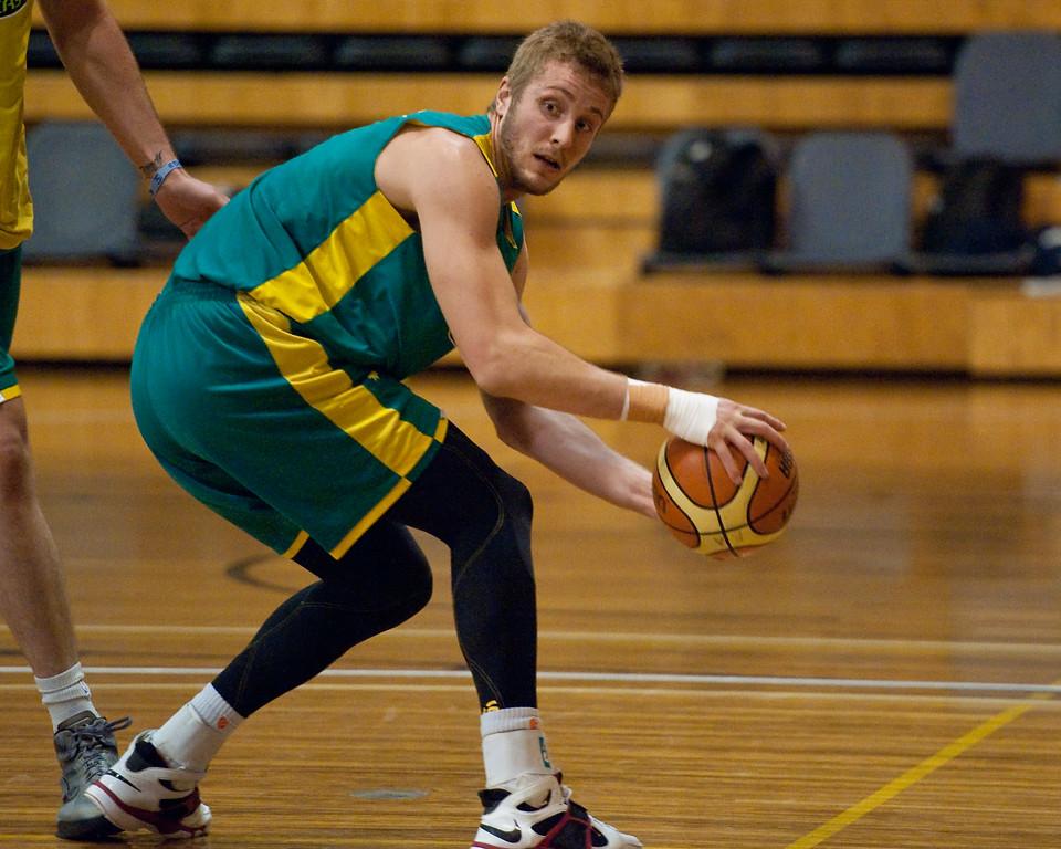 "Jesse Wagstaff - Boomers - Australian Men's Basketball Team Open Training Session, The Southport School, Queensland, Australia; 28 July 2011. Photos by Des Thureson:  <a href=""http://disci.smugmug.com"">http://disci.smugmug.com</a>."