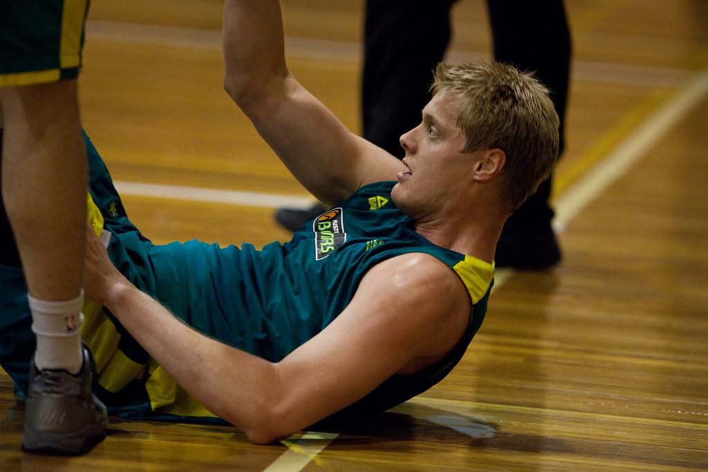 "Luke Nevill - Boomers - Australian Men's Basketball Team Open Training Session, The Southport School, Queensland, Australia; 28 July 2011. Photos by Des Thureson:  <a href=""http://disci.smugmug.com"">http://disci.smugmug.com</a>."