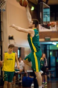 Aron Baynes - Boomers - Australian Men's Basketball Team Open Training Session, The Southport School, Queensland, Australia; 28 July 2011. Photos by Des Thureson:  http://disci.smugmug.com.