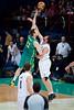 "Aron Baynes, Alex Pledger - Australian Boomers v New Zealand Tall Blacks FIBA Oceania Championship International Men's Basketball, Brisbane Entertainment Centre, Boondall, Brisbane, Queensland, Australia; 9 September 2011. Photos by Des Thureson:  <a href=""http://disci.smugmug.com"">http://disci.smugmug.com</a>."