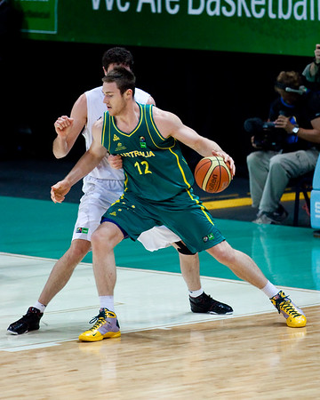 Australian Boomers v New Zealand Tall Blacks FIBA Oceania Championship Basketball. Photos by Des Thureson
