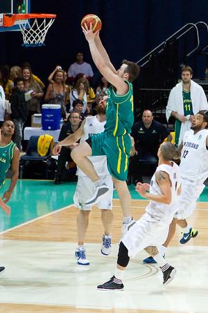Australian Boomers v New Zealand Tall Blacks FIBA Oceania Championship Basketball. Photos by Des Thureson