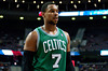 Nov 18, 2012; Auburn Hills, MI, USA; Boston Celtics power forward Jared Sullinger (7) during the second quarter against the Detroit Pistons at The Palace. Mandatory Credit: Tim Fuller-US PRESSWIRE