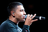 Nov 18, 2012; Auburn Hills, MI, USA; Recording artist Jay Sean performs during the halftime show between the Detroit Pistons and the Boston Celtics at The Palace. Mandatory Credit: Tim Fuller-US PRESSWIRE