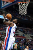 Nov 18, 2012; Auburn Hills, MI, USA; Detroit Pistons point guard Rodney Stuckey (3) makes a lay up during the third quarter against the Boston Celtics at The Palace. Detroit won 103-83. Mandatory Credit: Tim Fuller-US PRESSWIRE