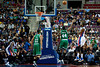 Nov 18, 2012; Auburn Hills, MI, USA; Detroit Pistons center Greg Monroe (right) puts up a shot over Boston Celtics power forward Chris Wilcox (44) during the first quarter at The Palace. Mandatory Credit: Tim Fuller-US PRESSWIRE