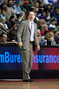 Nov 18, 2012; Auburn Hills, MI, USA; Detroit Pistons head coach Lawrence Frank during the first quarter against the Boston Celtics at The Palace. Mandatory Credit: Tim Fuller-US PRESSWIRE