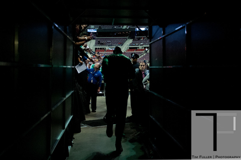 Nov 18, 2012; Auburn Hills, MI, USA; Boston Celtics power forward Kevin Garnett (5) runs onto the court before the game against the Detroit Pistons at The Palace. Mandatory Credit: Tim Fuller-US PRESSWIRE
