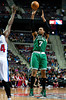 Nov 18, 2012; Auburn Hills, MI, USA; Boston Celtics power forward Jared Sullinger (7) shoots during the second quarter against the Boston Celtics at The Palace. Mandatory Credit: Tim Fuller-US PRESSWIRE