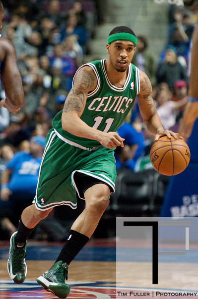 Nov 18, 2012; Auburn Hills, MI, USA; Boston Celtics shooting guard Courtney Lee (11) during the first quarter against the Detroit Pistons at The Palace. Mandatory Credit: Tim Fuller-US PRESSWIRE