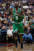 Nov 18, 2012; Auburn Hills, MI, USA; Boston Celtics power forward Kevin Garnett (5) during the third quarter against the Detroit Pistons at The Palace. Detroit won 103-83. Mandatory Credit: Tim Fuller-US PRESSWIRE