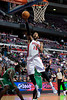 Nov 18, 2012; Auburn Hills, MI, USA; Detroit Pistons center Greg Monroe (10) makes a lay up during the third quarter against the Boston Celtics at The Palace. Detroit won 103-83. Mandatory Credit: Tim Fuller-US PRESSWIRE
