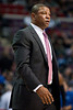 Nov 18, 2012; Auburn Hills, MI, USA; Boston Celtics head coach Doc Rivers during the second quarter against the Detroit Pistons at The Palace. Mandatory Credit: Tim Fuller-US PRESSWIRE