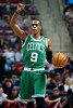 Nov 18, 2012; Auburn Hills, MI, USA; Boston Celtics point guard Rajon Rondo (9) brings the ball up court against the Detroit Pistons during the first quarter at The Palace. Mandatory Credit: Tim Fuller-US PRESSWIRE