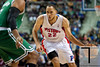 Nov 18, 2012; Auburn Hills, MI, USA; Detroit Pistons small forward Tayshaun Prince (22) drives to the basket during the third quarter against the Boston Celtics at The Palace. Detroit won 103-83. Mandatory Credit: Tim Fuller-US PRESSWIRE