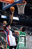 Nov 18, 2012; Auburn Hills, MI, USA; Detroit Pistons center Greg Monroe (10) puts up a shot over Boston Celtics power forward Jared Sullinger (7) during the fourth quarter at The Palace. Detroit won 103-83. Mandatory Credit: Tim Fuller-US PRESSWIRE