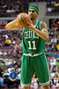 Nov 18, 2012; Auburn Hills, MI, USA; Boston Celtics shooting guard Courtney Lee (11) during the second quarter against the Detroit Pistons at The Palace. Mandatory Credit: Tim Fuller-US PRESSWIRE