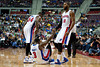 Nov 18, 2012; Auburn Hills, MI, USA; Detroit Pistons power forward Jason Maxiell (54) and center Greg Monroe (10) help up point guard Rodney Stuckey (3) during the first quarter against the Boston Celtics at The Palace. Mandatory Credit: Tim Fuller-US PRESSWIRE