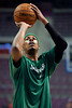Nov 18, 2012; Auburn Hills, MI, USA; Boston Celtics small forward Paul Pierce (34) warms up before the game against the Detroit Pistons at The Palace. Mandatory Credit: Tim Fuller-US PRESSWIRE