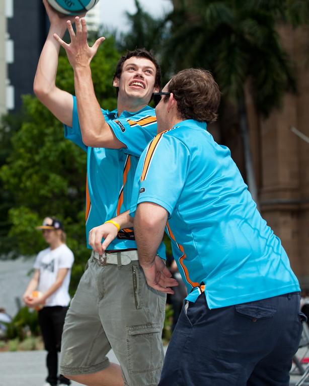 """Jason Cadee - Bring Back the Bullets Promotion, King George Square, Brisbane, Queensland. Photos by Des Thureson:  <a href=""""http://disci.smugmug.com"""">http://disci.smugmug.com</a>."""