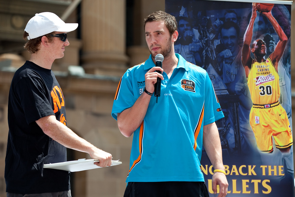 "Bring Back the Bullets Promotion, King George Square, Brisbane, Queensland. Photos by Des Thureson:  <a href=""http://disci.smugmug.com"">http://disci.smugmug.com</a>."
