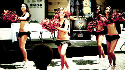 Alternate Processing - PH Edgy Church - NBL Dance Team - Bring Back the Bullets Promotion, King George Square, Brisbane, Queensland. Photos by Des Thureson:  http://disci.smugmug.com.