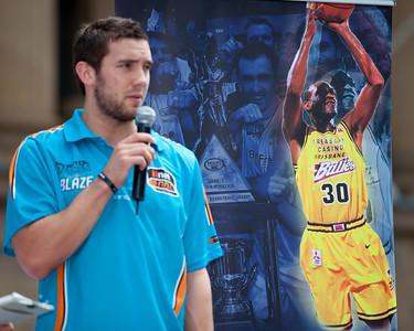 Bring Back the Brisbane Bullets NBL Basketball Promotion, King George Square, Brisbane, Queensland, Australia. Photos by Des Thureson.