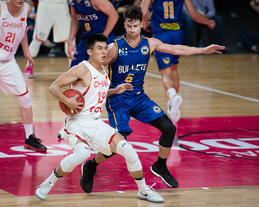 Shaun Bruce - Brisbane Bullets Basketball v Chinese National Men's Basketball Team, Gold Coast Sports & Leisure Centre, Carrara, Gold Coast, Queensland, Australia; Tuesday 18 July 2017. Photos by Des Thureson - http://disci.smugmug.com