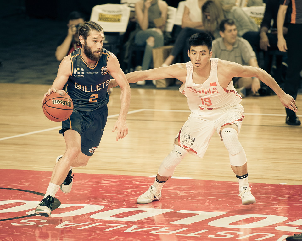 "Alternate Processing: ""Hawaii Five-O (Strong)"" - Isaih Tueta - Brisbane Bullets Basketball v Chinese National Men's Basketball Team, Gold Coast Sports & Leisure Centre, Carrara, Gold Coast, Queensland, Australia; Tuesday 18 July 2017. Photos by Des Thureson - <a href=""http://disci.smugmug.com"">http://disci.smugmug.com</a>"