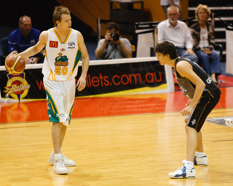 Chris Goulding in his first NBL Game - Brisbane Bullets - 23 December 2006 -