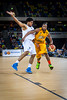 Zaire Taylor on the attack during a London Lions Game
