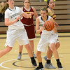 Stephanie Husa, right, fights for a rebound as the Butte College basketball team plays Saturday, Jan. 14, 2017, against College of the Redwoods in Butte Valley, California. (Dan Reidel -- Enterprise-Record)