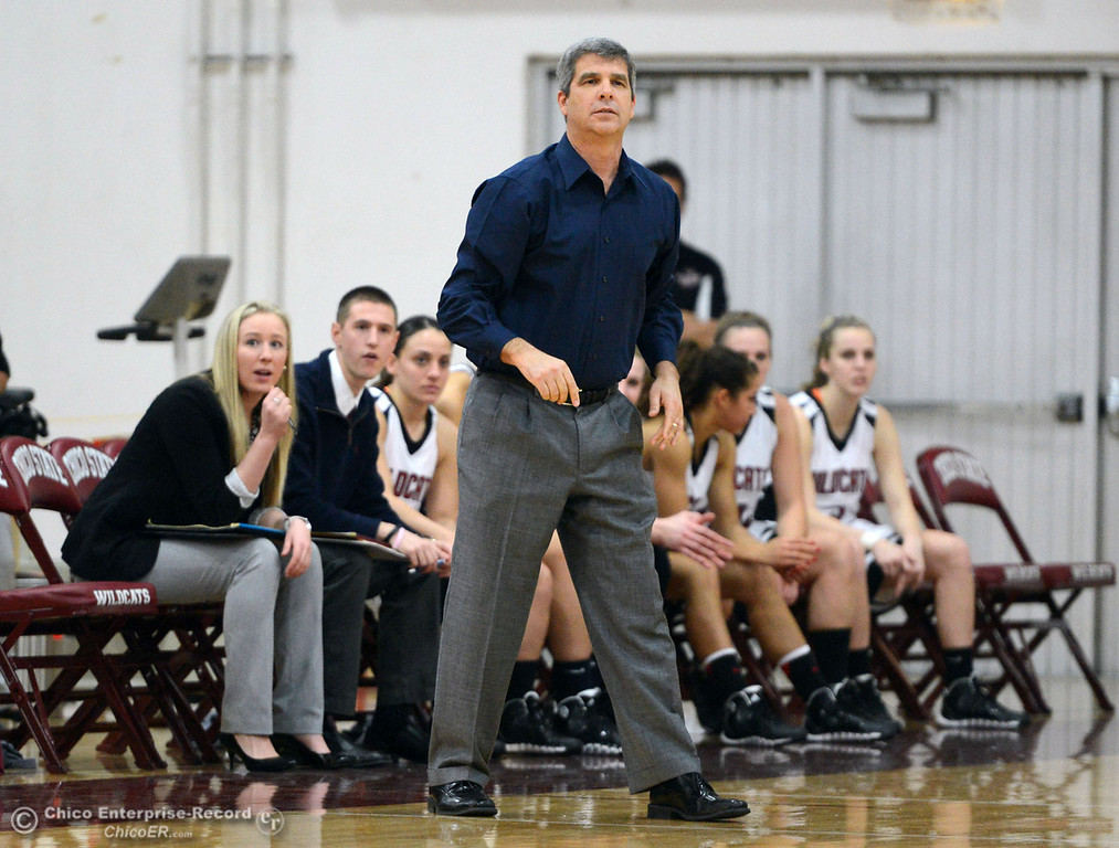 . Chico State\'s head coach Brian Fogel looks on against Cal State L.A. in the first half of their women\'s basketball game at CSUC Acker Gym Saturday, January 11, 2014 in Chico, Calif.  (Jason Halley/Chico Enterprise-Record)