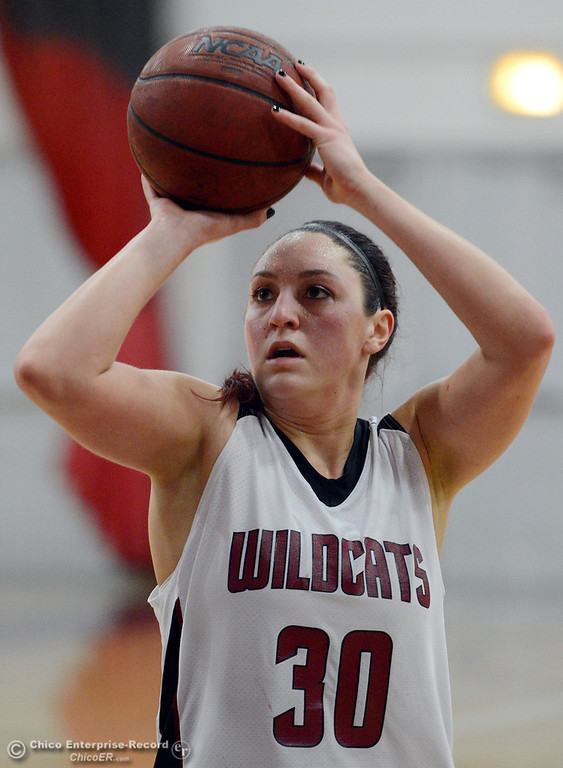 . Chico State\'s #30 McKenzie Dalthorp takes a free throw against Cal State L.A. in the first half of their women\'s basketball game at CSUC Acker Gym Saturday, January 11, 2014 in Chico, Calif.  (Jason Halley/Chico Enterprise-Record)