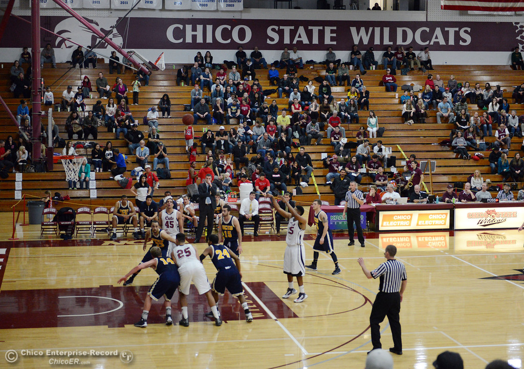. Chico State against UC San Diego in the first half of their men\'s basketball game at CSUC Acker Gym Friday, February 7, 2014 in Chico, Calif.  (Jason Halley/Chico Enterprise-Record)
